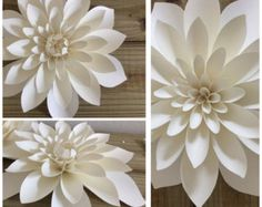 Flores de papel grandes conjunto de 12 varios por LovePaperBlooms