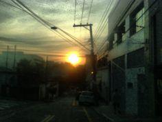 Pôr do sol em São Caetano do sul