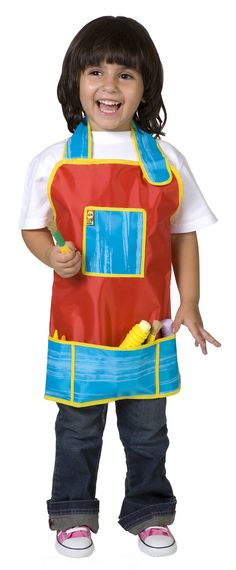 It comes in a very attractive red and blue color combination with yellow edging which helps to create a more artistic feel to it. Alex Toys' My Art Apron helps your children to development their sense of creativity as well as the responsibility of keeping their clothes clean during the whole process. They come with a front pocket for additional storage and appropriately sized for children ages 3 and up, to aid them in their first painting endeavors.
