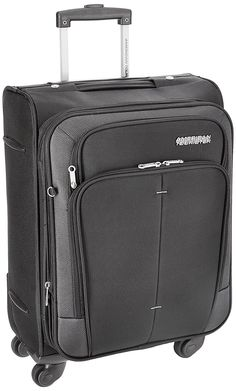 American Tourister Crete Polyester 55 cm Black Softsided Carry On-$60