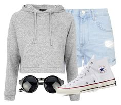 """""""School :,("""" by fungirl1forlife ❤ liked on Polyvore featuring Topshop and Converse"""
