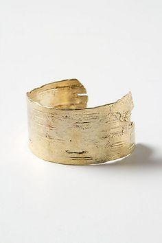 Anthropologie Golden Birch Cuff
