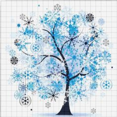 BUY 2 GET 1 FREE! Tree of Life Four seasons Winter 517 Cross Stitch Pattern Counted Cross Stitch Cha Family Room Walls, Tree Of Life, Free Items, Four Seasons, Cross Stitch Patterns, Embroidery, Black And White, Canvas, Winter
