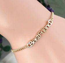 Fashion Women Best Friend Gold Plated Charm Chain Bangle Bracelet Jewelry Gift