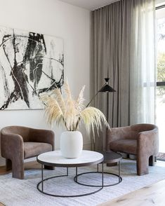 A moment of calm, complements of Jenn Feldman Designs. Get the look at theshadestore.com. #LoveYourWindows Drapery, Curtains, Throw Pillows, Exclusive Collection, Living Room, Get The Look, Bed, Swatch, Table