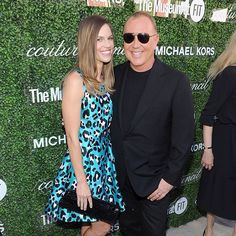 Hillary Swank and Michael Kors
