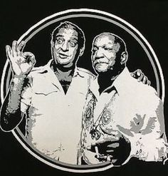 Rodney Dangerfield and Redd Foxx two of the Greatest Old School Comedians of all Times! Redd Foxx, Sanford And Son, Comedians, Creative Art, Old School, Beautiful Men, Sons, Handsome
