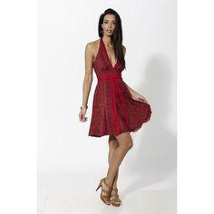Vestido corto estampado con escote y abertura frontal de doble capa Rojo - Mauna Barcelona - fashion - moda Boho Chic, Fashion Moda, High Low, Formal Dresses, Barcelona, Spirit, Collection, Mantle, Minimal Dress