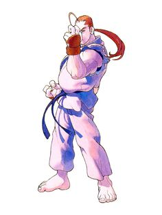 Dan (from Street Fighter Alpha), by Bengus. Capcom Artwork.