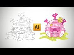 Tutoriel gratuit Illustrator. Apprendre à créer personnage vectoriel sans avoir de niveau particulier en dessin à l'aide des formes géométriques. Graphic Illustration, Snoopy, Photoshop, Graphic Design, Videos, Artist, Poster, Blog, Inspiration