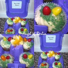 easter gifts - carrot cake mini cupcakes