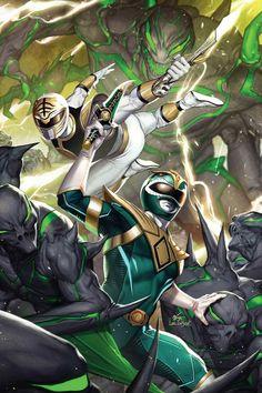 Power Rangers Fan Art, Mighty Morphin Power Rangers, Pawer Rangers, Alternative Comics, Japanese Superheroes, Green Ranger, Superhero Design, Slayer Anime, Comic Books Art