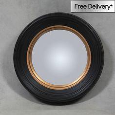 Medium Deep Black Framed Convex Mirror 65x65x11cm Medium Black Convex Frame   Exclusive Mirrors [EE2437] - �151.78 - Mirrors for Every Interior from Exclusive Mirrors