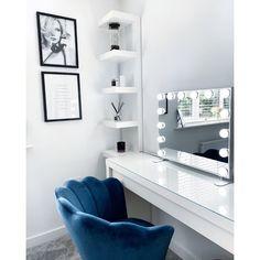 17 Stories Aichinger Dresser Mirror | Wayfair.co.uk Mirror Room, Dresser With Mirror, Mirrors, Hollywood Mirror, Hollywood Makeup, Hollywood Style, Blue Velvet Chairs, Beauty Room Decor, Makeup Mirror With Lights