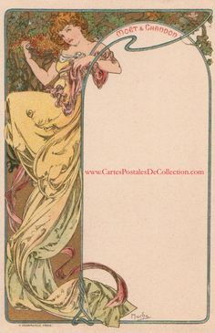 """Advertising for """"MOET et CHANDON"""" champagne circa 1900"""