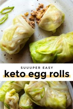 *NEW* Are you ready to be blown away by these low carb egg rolls? Perfectly seasoned pork filling is rolled in cabbage wraps for a healthy and flavorful dish!! #lowcarbeggrolls #ketoeggrolls #eggrolls #keto #lowcarb