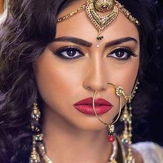 A more Natural Bridal look... #bridal #motd #eyebrows #eyeliner #lips #shaadibazaar #wedding #indianwedding