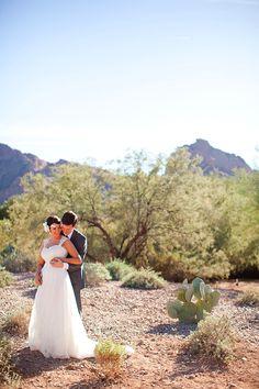 Modern DIY Desert Wedding.