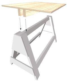 sawhorse: #WoodworkingTools #woodworkingplans #WoodworkPlans
