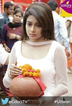 Tina Dutta in White Salwar