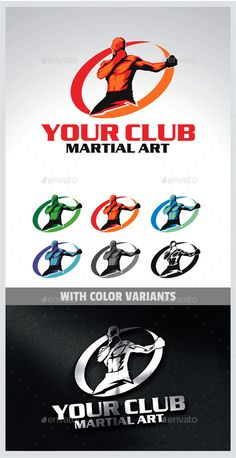 Martial Arts Logo — Vector EPS #UFC #male • Available here → https://graphicriver.net/item/martial-arts-logo/9929769?ref=pxcr