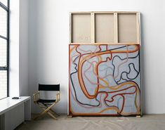 Brice Marden's New York City Studio // Abstract painter Brice Marden is among the handful of living artists established enough to be considered part of art history. From 1987 to 2000, Marden's studio was located on the Bowery. Today, the artist keeps a Manhattan studio in a 10th-floor penthouse duplex on West Street overlooking the Hudson River. The studio was carved out of an old carriage house and has been converted into a large, light-filled space with western and northern exposures.