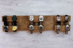 Wall Mounted Watch Display Rack The Watch Block by jamesandgrain