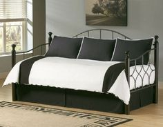 The Southern Textiles Zebra Daybed Ensemble brings a chic, contemporary touch to your daybed. This five-piece daybed comforter set includes a twin. Daybed Cover Sets, Daybed Sets, Daybed Bedding, Daybed Couch, Contemporary Daybeds, Modern Daybed, Girls Comforter Sets, Bedding Sets, White Bedding