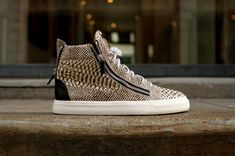 Guiseppe Zanotti snakeskin hightop sneakers