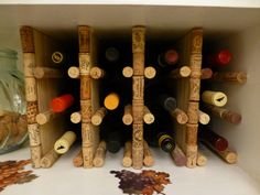 wine rack made from corks   ThisNerdHouse: Our Sentimental Cork-Constructed Wine Cabinet