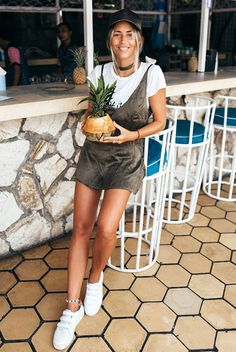 summer outfit, casual outfit, comfy outfit, athleisure outfit, summer vacation outfit, summer getaway outfit, summer trends 2016 - olive baseball cap, olive slip dress, white t-shirt, white sneakers