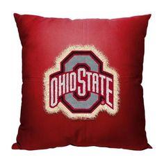Ohio State University Buckeyes Letterman Pillow