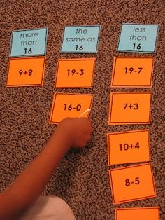 Sorting math facts The Reading Corner: Thinking about Non Fiction and Math Daily 5 Maths Guidés, Math Classroom, Kindergarten Math, Fun Math, Teaching Math, Elementary Math, Easy Math, Primary Maths, Math Stations