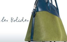 Bolide bags in swift calf, alligator, twill, and taurillon.