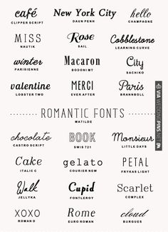 Ideas Tattoo Fonts Tipografia For 2019 Typographie Inspiration, Logo Inspiration, Typography Letters, Typography Design, Graphic Design Fonts, Typography Poster, Typographie Fonts, Merci Paris, Romantic Fonts