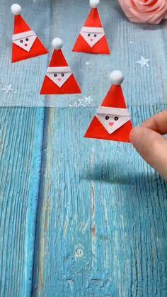 Preschool Christmas Crafts, Christmas Paper Crafts, Christmas Projects, Holiday Crafts, Christmas Recipes, Snowman Crafts, Christmas Decorations, Cool Paper Crafts, Paper Crafts Origami