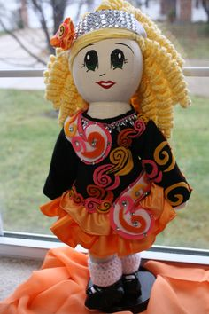 So cute! Irish Dancer Doll-Custom Order via Etsy.