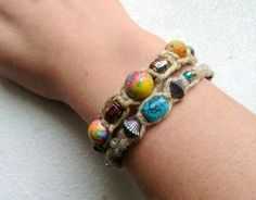 Hemp bracelets :) LunaFloraCreations,+$5.00