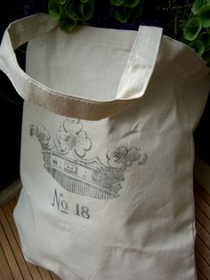 Cotton Canvas Bag  with Crown