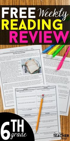 FREE 6th Grade reading homework or warm-ups that provides a daily review of ALL 6th grade reading standards. Rigorous reading passages and text dependent questions! This 6th Grade reading comprehension resource is fully EDITABLE and comes with answer keys and a pacing guide. Perfect for Close Reading! Comes with 6th Grade paired passages.