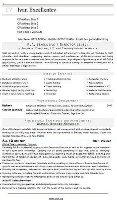 PA (Executive - Director Level)...