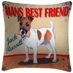 i want this soo bad--->Jack Russell Mans Best Friend Cushion £29.99
