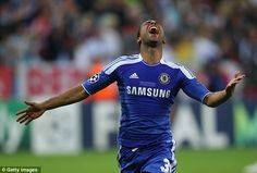 Euro stars: Ashley Cole shows his elation after Drogba's match-winning penalty