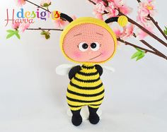 PATTERN   Bonnie With Bee Costume by HavvaDesigns on Etsy