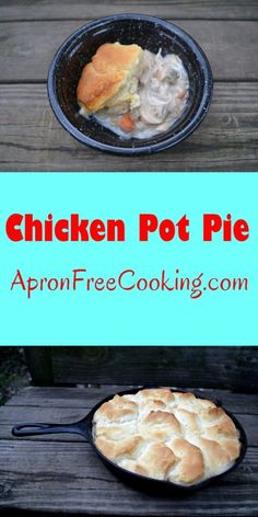 Chicken pot pie is one of life's greatest comfort foods. Cooked Chicken Recipes, Meat Recipes, Chicken Meals, Friend Recipe, Quick Dinner Recipes, Cream Of Chicken Soup, Easy Cooking, Skillet Food, Skillet Recipes