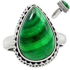 Malachite Ring 925 Sterling Silver,Size :7.25