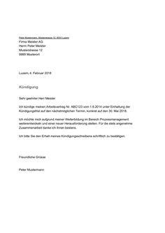 Kündigung Mietvertrag Vorlage Muster Beispiel Kostenlos Downloaden