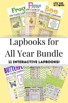 Supplement your lesson plans with Lapbooks for ALL YEAR! These unique themed lapbooks are perfect for teaching concept study. Included themes in these fun seasonal books are pumpkin life cycle, apple life cycle, why do leaves change colors, and so many more. Kids will love being able to create something of their very own while staying on task with their learning units. Great for home, distance, and classroom learning! Fall Preschool Activities, Winter Activities For Kids, Spring Activities, Holiday Activities, Science Activities, Science Experiments, Bee Life Cycle, Apple Life Cycle, Pumpkin Life Cycle