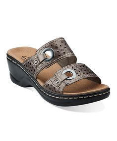 427b7434b22f Take a look at this Pewter Lexi Laurel Sandal - Women by Clarks on  zulily