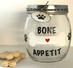 Fun Dog Treat Jars